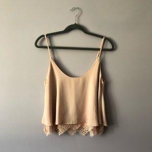 ♥️ Light Pink Lace Blouse
